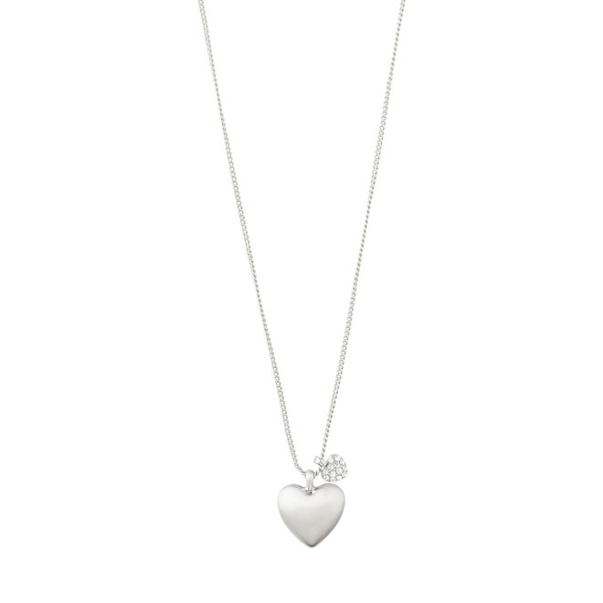 Pilgrim Sophia Two-Hearts Necklace