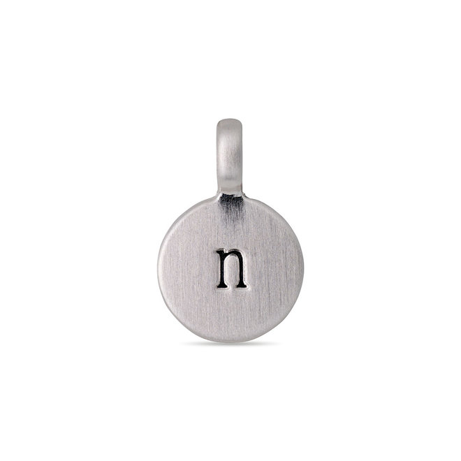 Pendentif médaillon de lettre Pilgrim plaqué argent