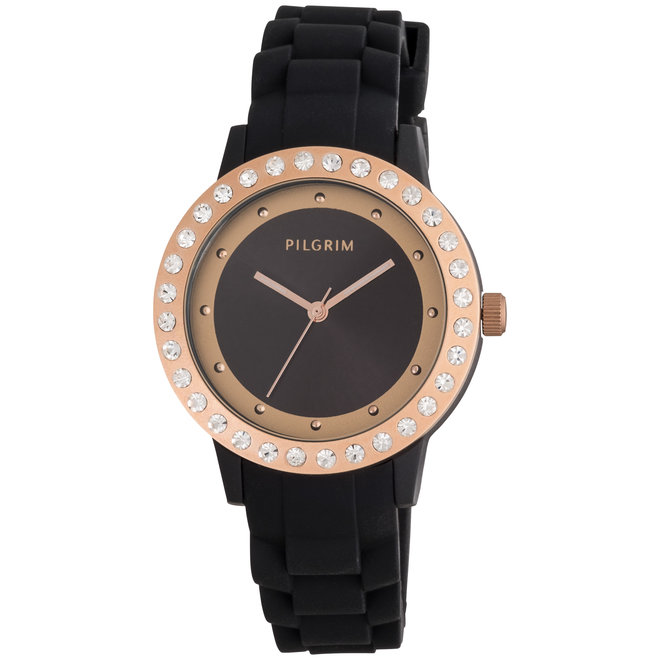 Pilgrim Large Crystal Silicone Watch