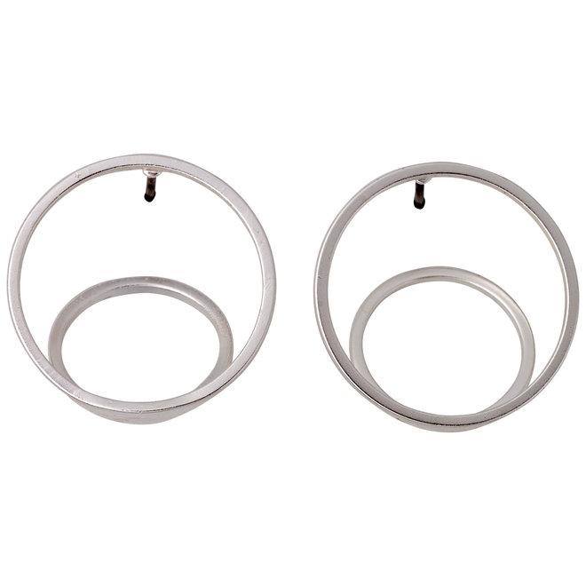 Pilgrim 3D Circle Earrings