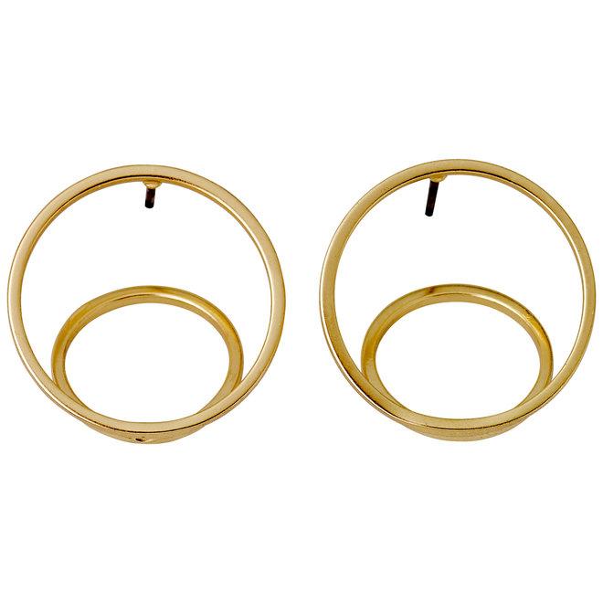 Boucles d'oreilles cercle 3D Pilgrim