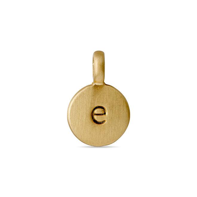 Pendentif médaillon de lettre Pilgrim plaqué or