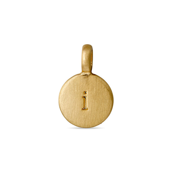 Pilgrim Pendant Disc Letter Gold plated