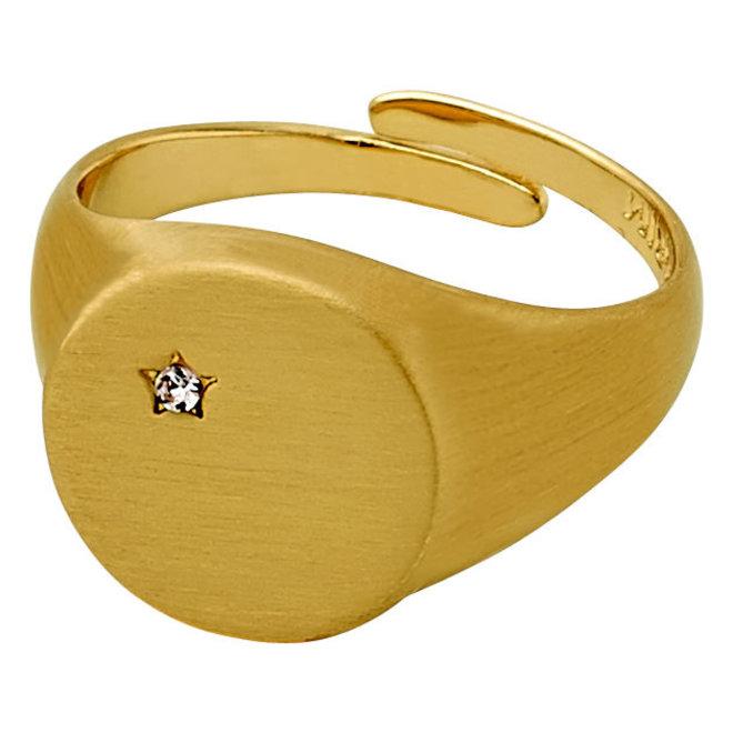 Pilgrim Crystal Star Ring