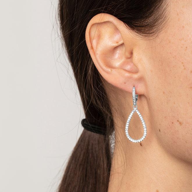 Pilgrim Delia Crystal Statement Earrings