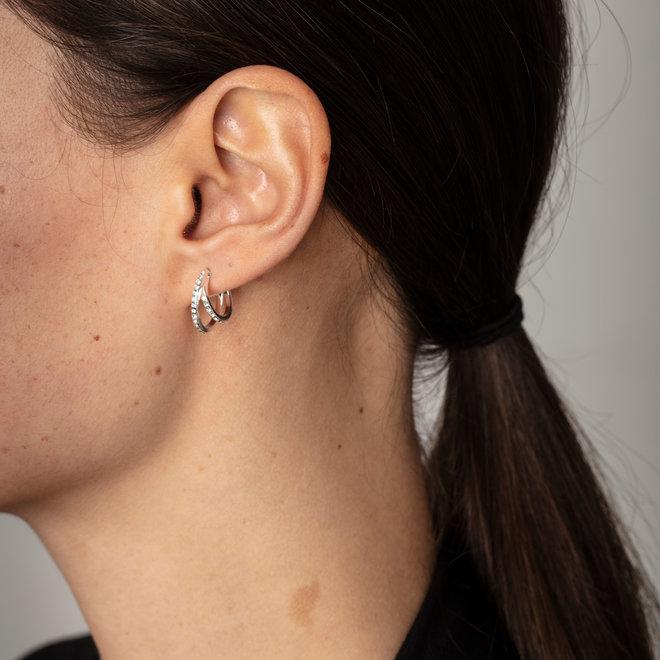 Boucles d'oreilles cristal Nuage Pilgrim
