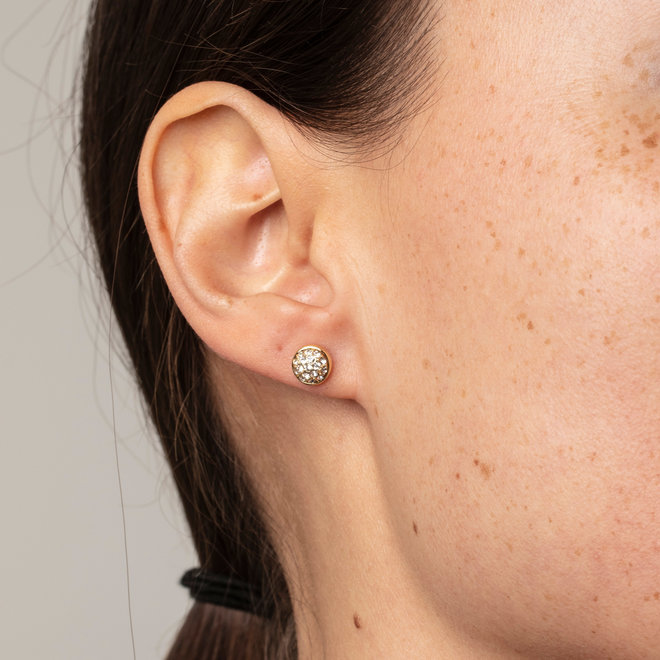 Pilgrim Heather Crystal Stud Earrings
