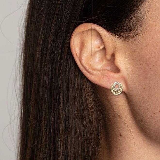 Petites boucles d'oreilles cristal Pilgrim Cassie