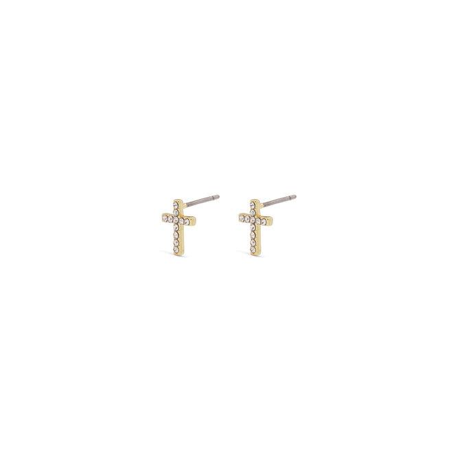 Boucles d'oreilles croix Pilgrim Clara
