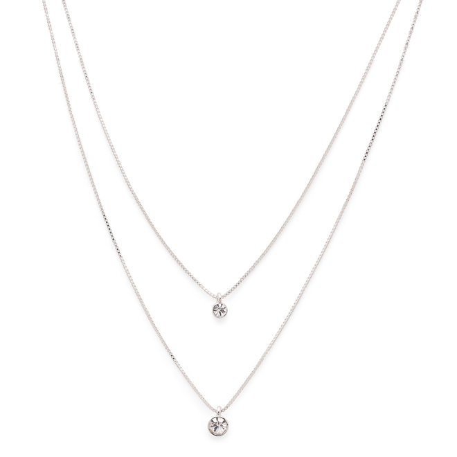 Pilgrim Lucia Double Crystal Necklace