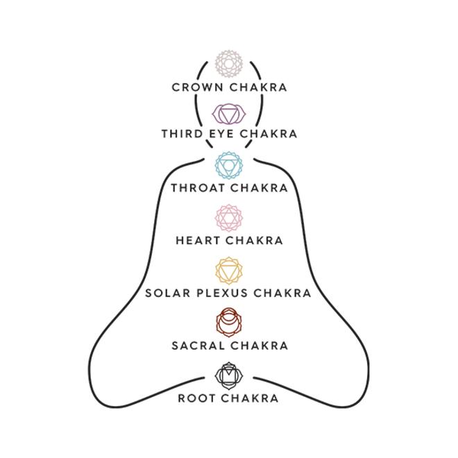 Collier Pilgrim de chakras racine