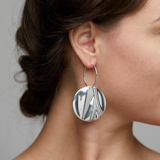 Pilgrim Statement Earrings Water Element