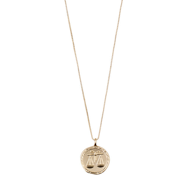 Pilgrim Horoscope Necklace Libra
