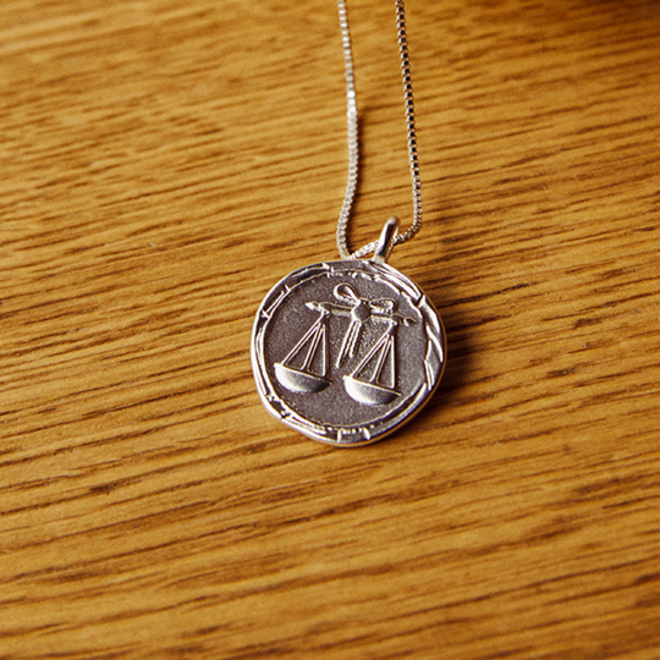Pilgrim Horoscope Necklace Libra