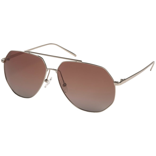 Pilgrim Gabriel Sunglasses Silver plated, Brown