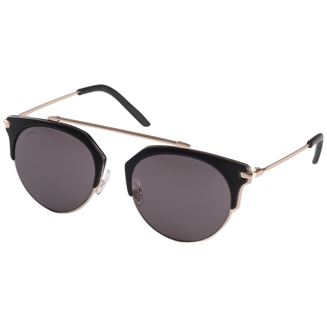 Pilgrim Lotus Sunglasses Gold plated, Black