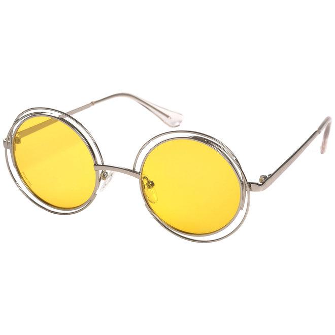 Pilgrim Marcella Sunglasses Silver plated, Yellow