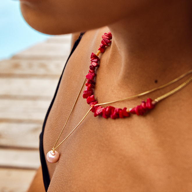 Pilgrim Agate Stone Necklace