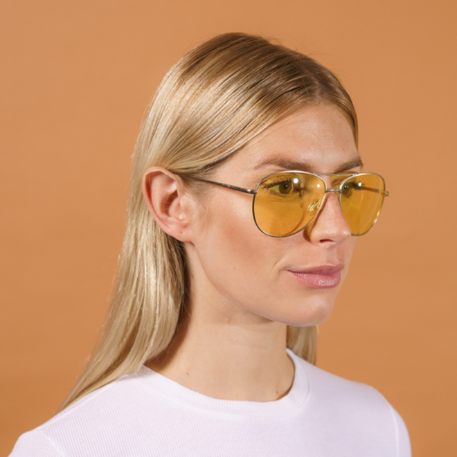 Pilgrim Nani Sunglasses Gold plated, Yellow