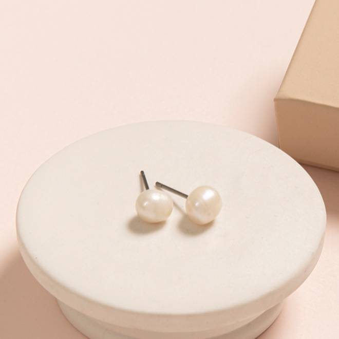 Pilgrim Pearl Stud Earrings