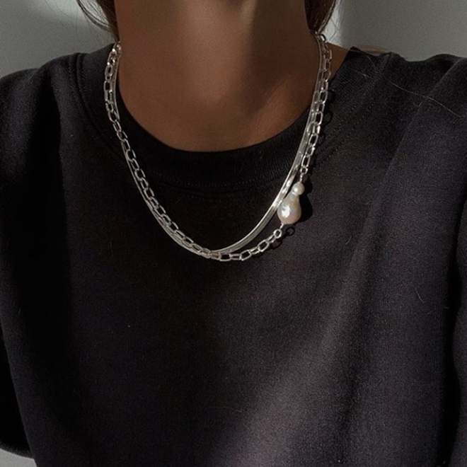 Pilgrim Gracefulness 2-in-1 Chain Necklace