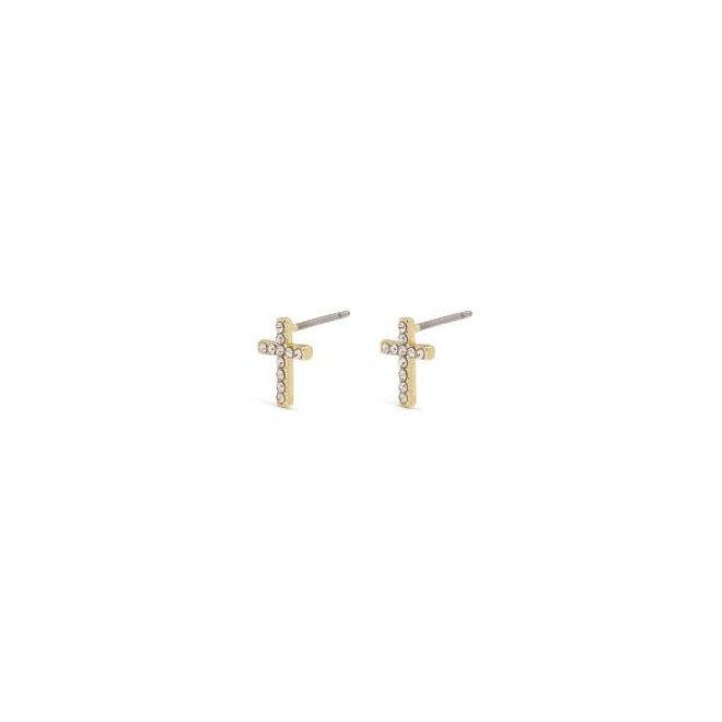 Pilgrim Clara Cross Earrings