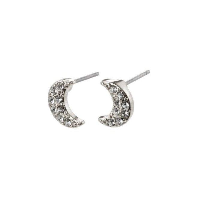 Pilgrim Moon Crystal Stud Earrings