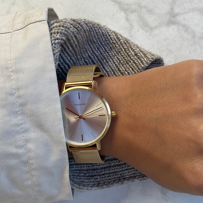 Pilgrim Rosemary Metal Watch