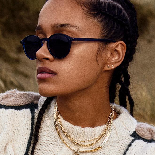 Pilgrim Roxanne Sunglasses Navy