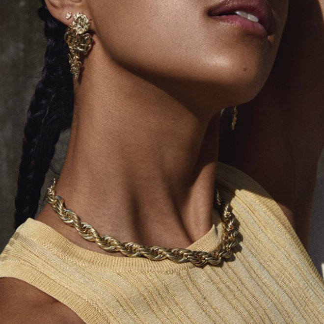 Pilgrim Horizon Rope Necklace