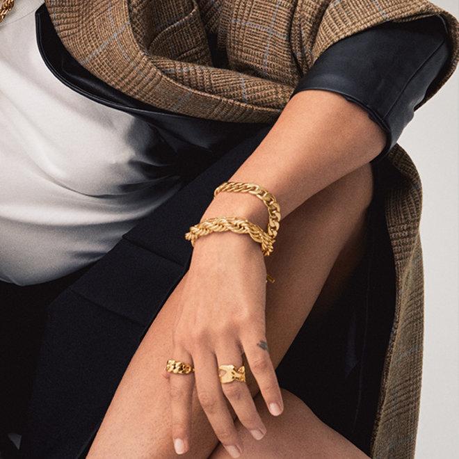 Bracelet superposé Pilgrim Boussole