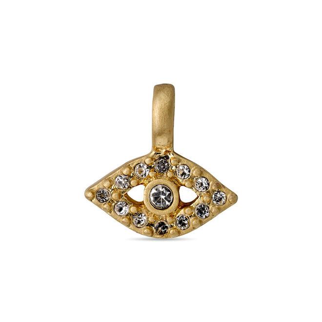 Pilgrim Eye Crystal Pendant Gold plated