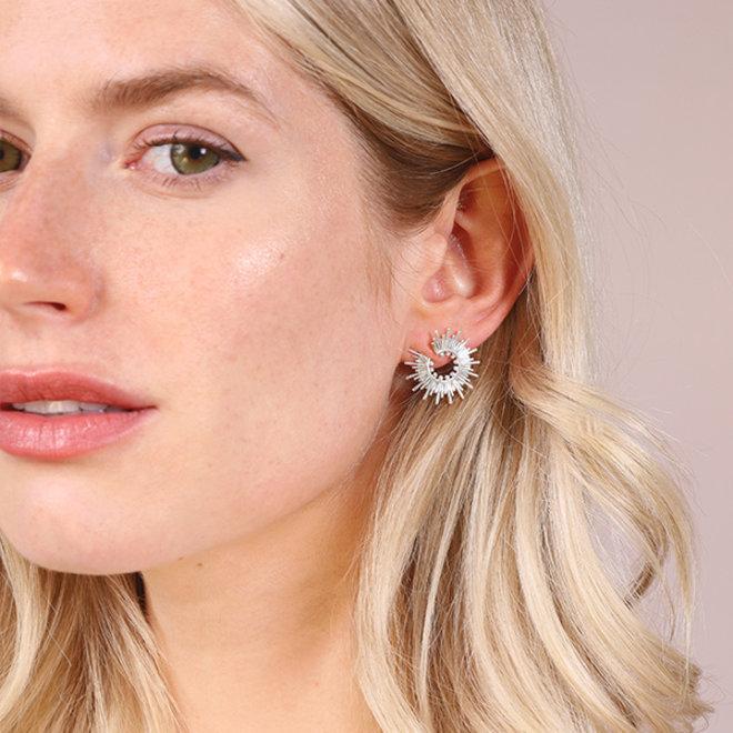 Pilgrim Shana Crystal Earrings