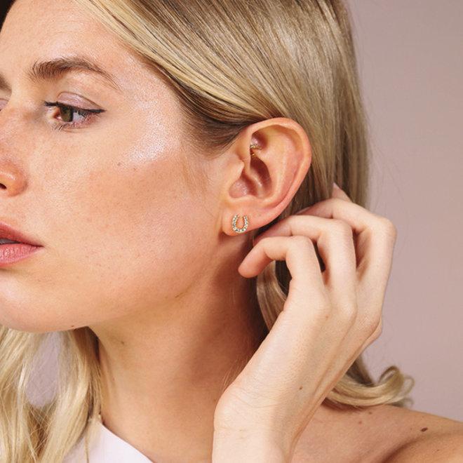 Petites boucles d'oreilles cristal Pilgrim Leanna