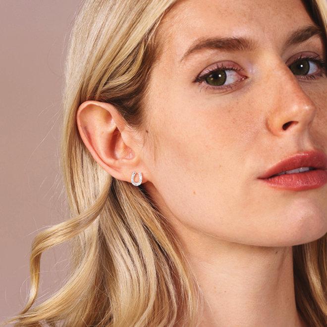 Pilgrim Leanna Crystal Stud Earrings