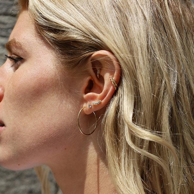 Boucles d'oreilles cristal montantes Pilgrim Anita