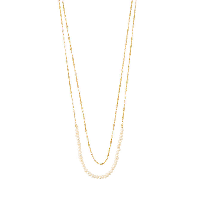 Pilgrim Beauty Layered Pearl Necklace