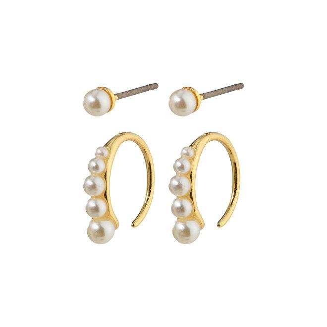 Pilgrim Beauty Pearl Earrings Set