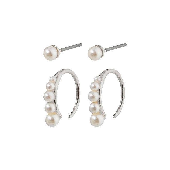 Ensemble de boucles d'oreilles perles Pilgrim Beauté naturelle