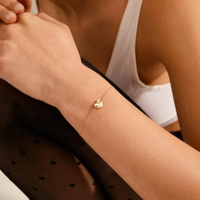 Pilgrim Sophia Hammered Bracelet