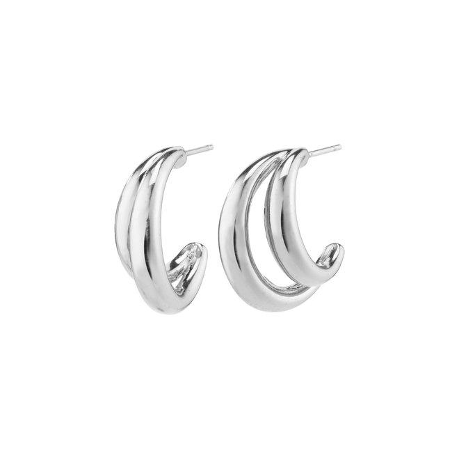 Pilgrim Belief Hoop Earrings
