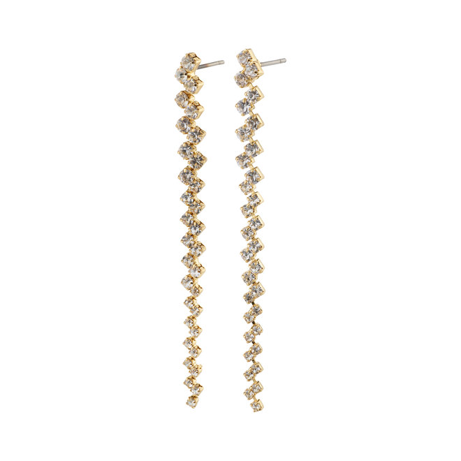 Pilgrim Belief Long Crystal Earrings