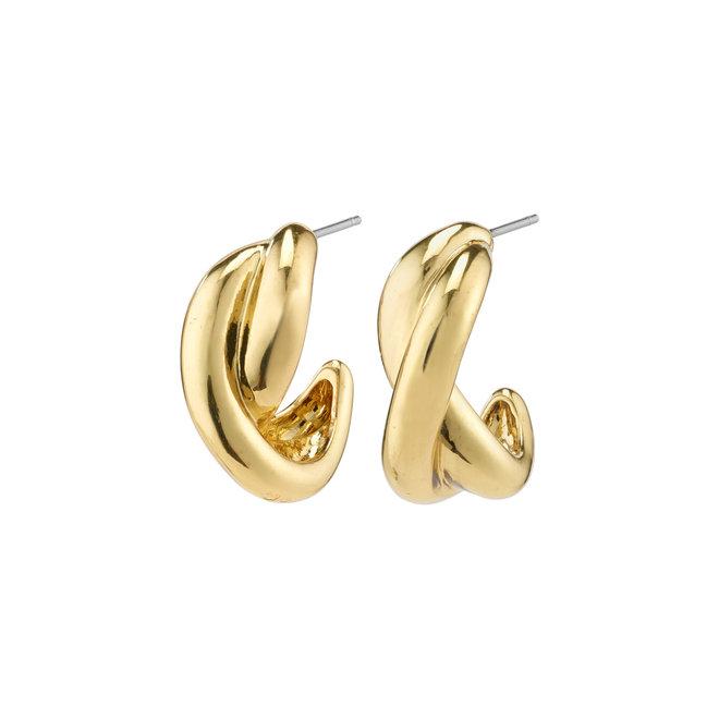 Pilgrim Belief Twisted Hoop Earrings