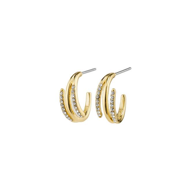 Pilgrim Serenity Crystal Hoop Earrings