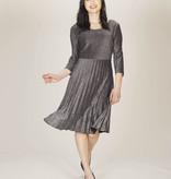 Papillon Silver Pleated Dress