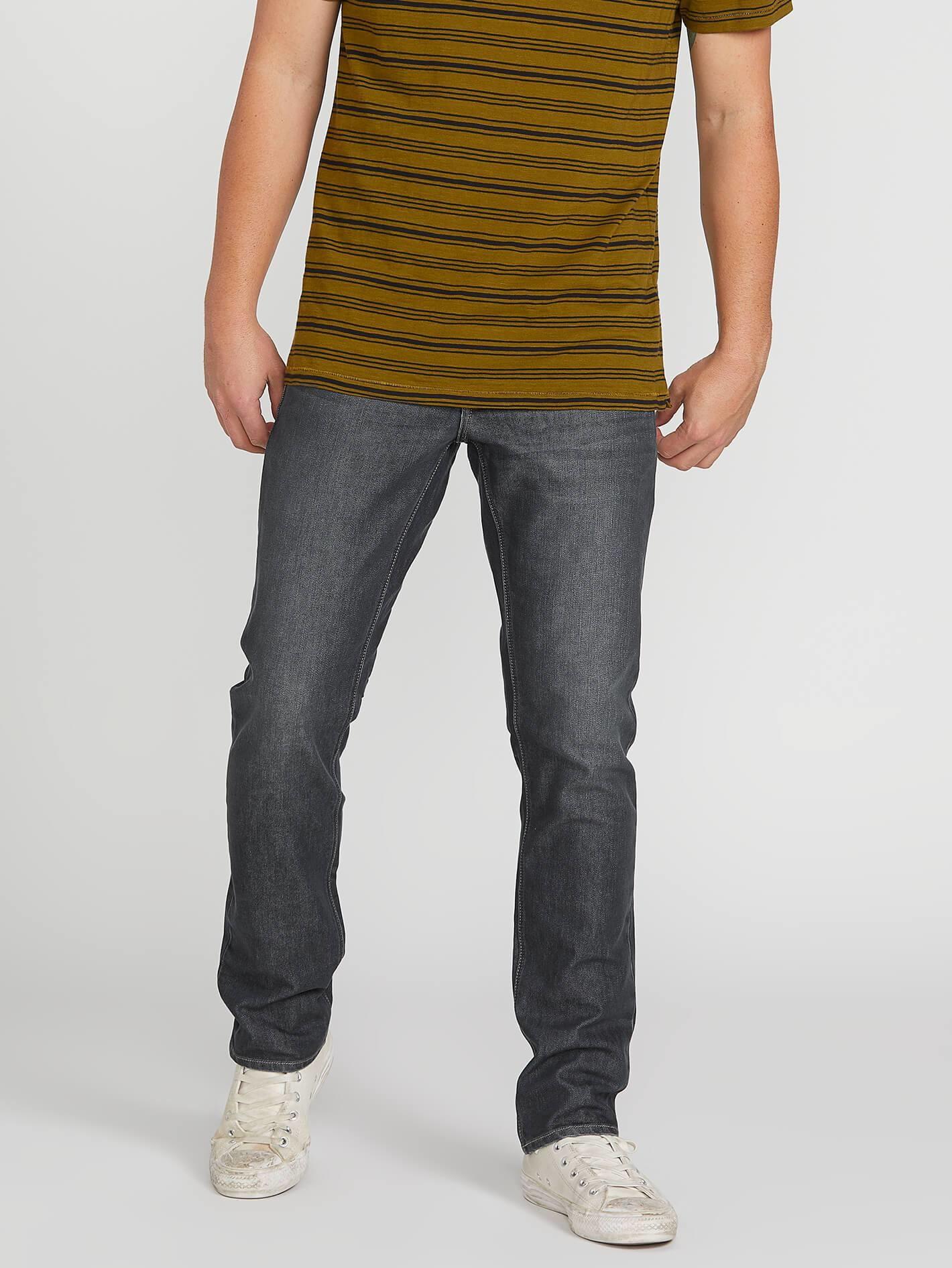 Volcom Vorta Slim Fit Jeans - Bullet Grey Wash Size 32x32