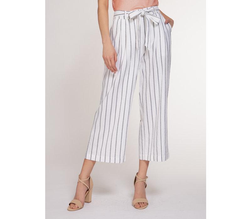 Dex Dex White Striped Pants