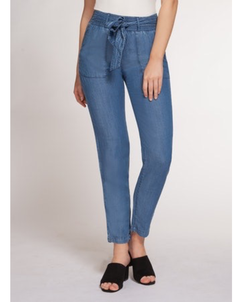 Dex Dex Tie Front Pant - Blue Wash