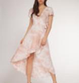Dex Dex Blush Tie Dye Ruffle Dress
