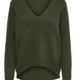 Only JDY Bronze VNeck Pullover